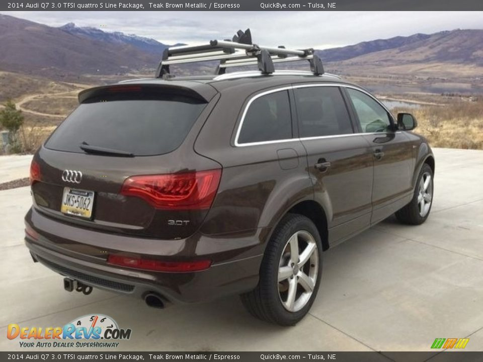 2014 Audi Q7 3.0 TFSI quattro S Line Package Teak Brown Metallic / Espresso Photo #9