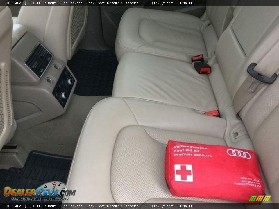 2014 Audi Q7 3.0 TFSI quattro S Line Package Teak Brown Metallic / Espresso Photo #13