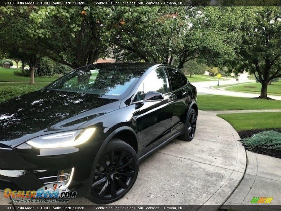 2018 Tesla Model X 100D Solid Black / Black Photo #23