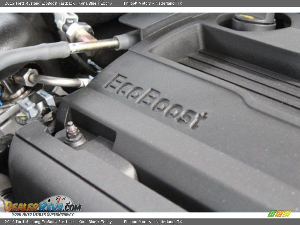 2019 Ford Mustang EcoBoost Fastback Kona Blue / Ebony Photo #31