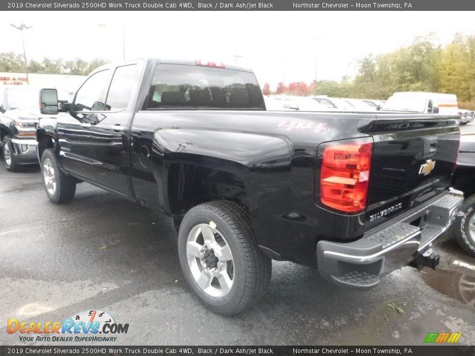 2019 Chevrolet Silverado 2500HD Work Truck Double Cab 4WD Black / Dark Ash/Jet Black Photo #3