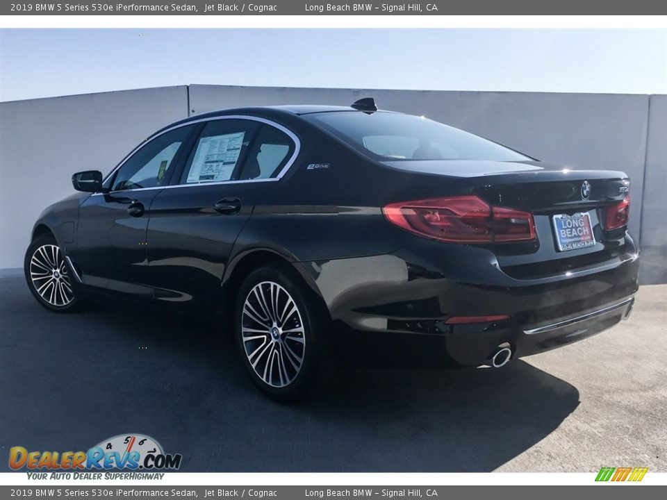 2019 BMW 5 Series 530e iPerformance Sedan Jet Black / Cognac Photo #2