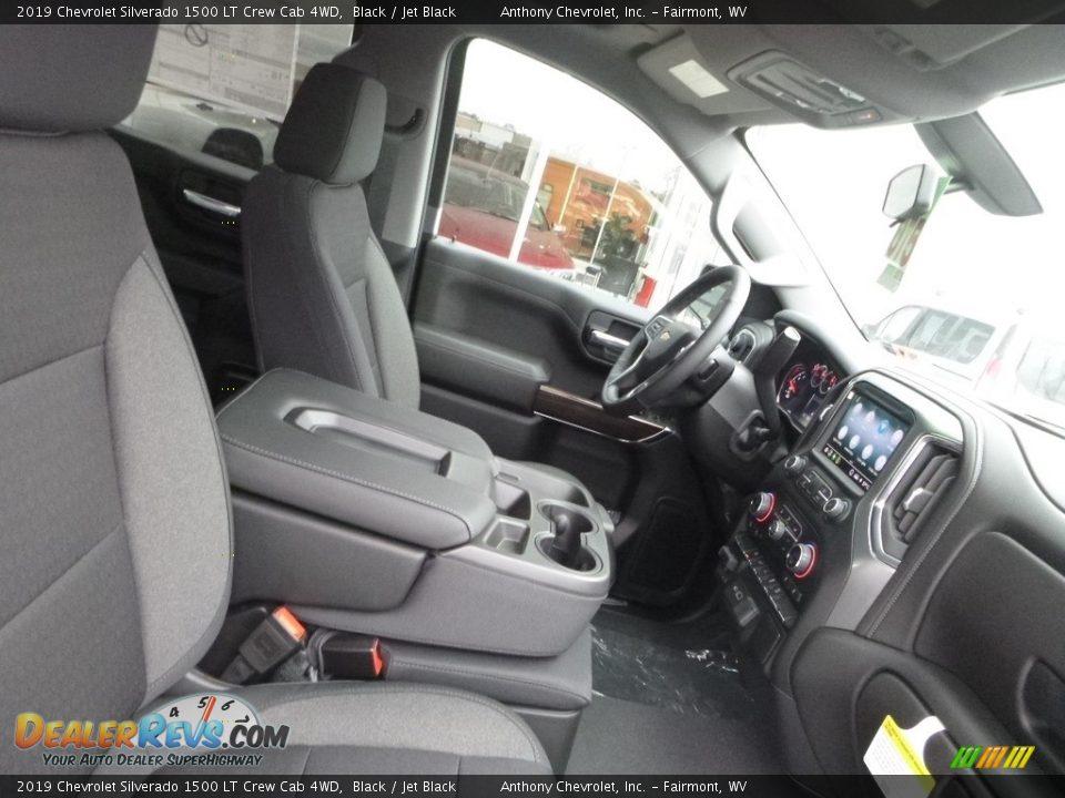 2019 Chevrolet Silverado 1500 LT Crew Cab 4WD Black / Jet Black Photo #3