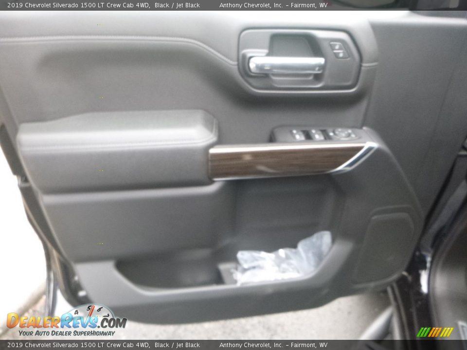 2019 Chevrolet Silverado 1500 LT Crew Cab 4WD Black / Jet Black Photo #11
