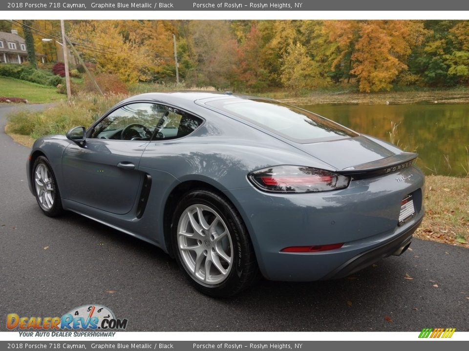 2018 Porsche 718 Cayman Graphite Blue Metallic / Black Photo #4