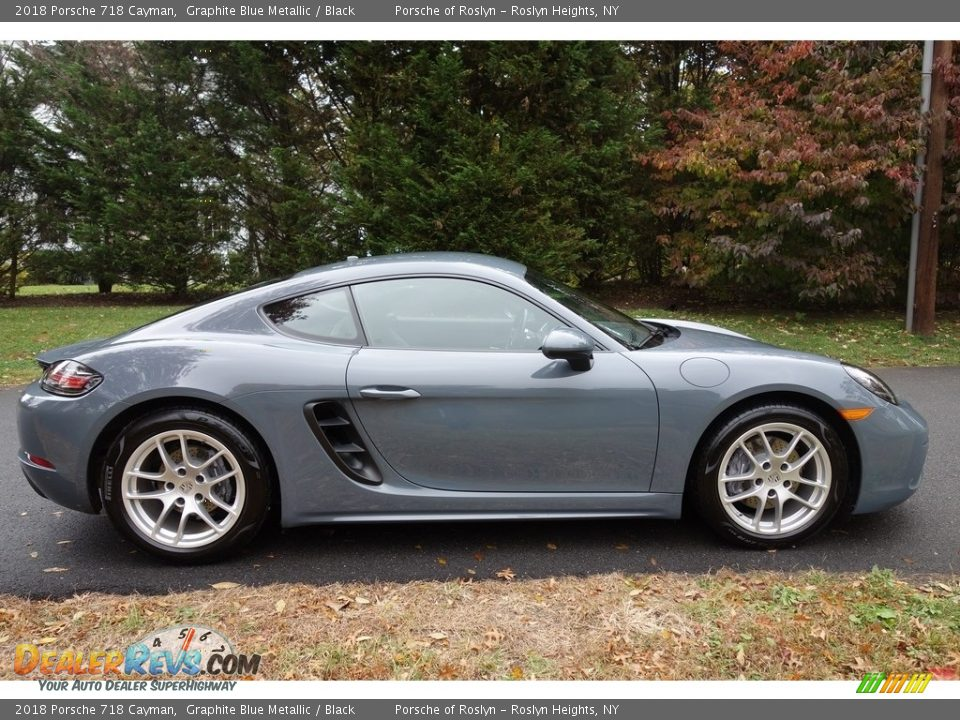 Graphite Blue Metallic 2018 Porsche 718 Cayman  Photo #7