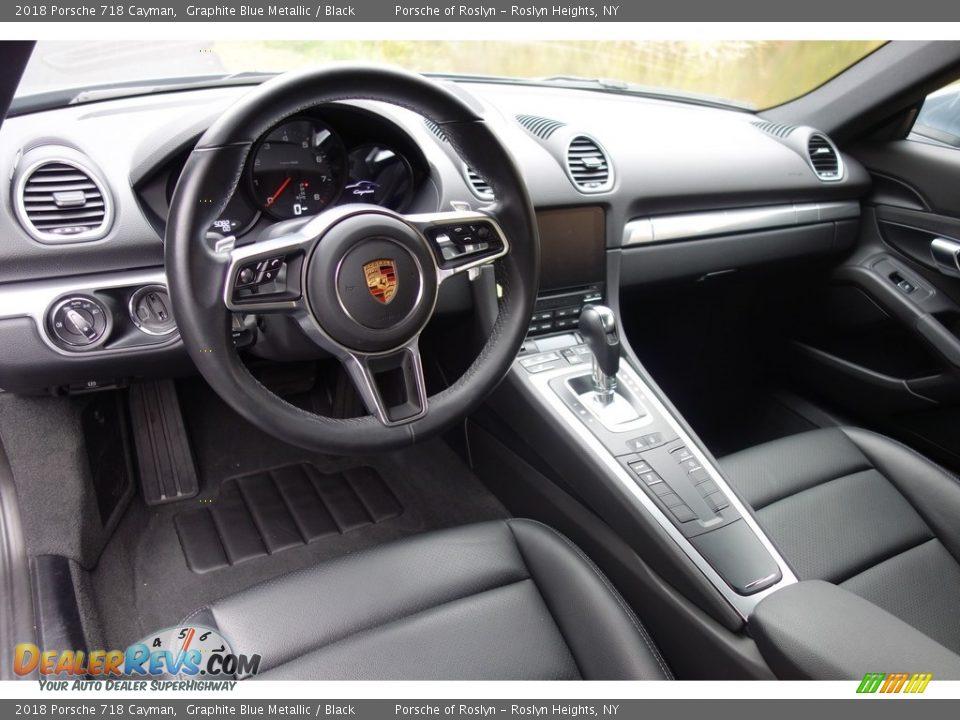 Black Interior - 2018 Porsche 718 Cayman  Photo #10