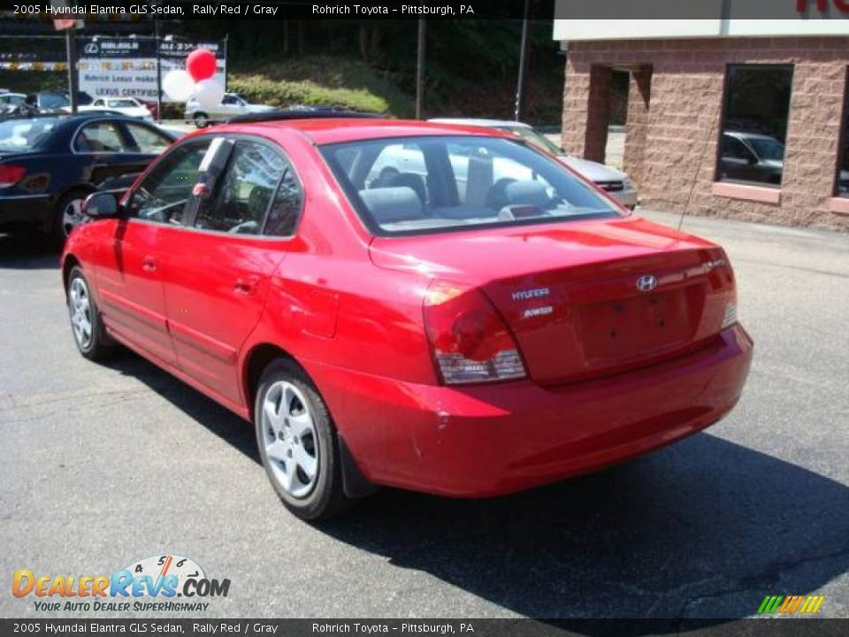 2005 Hyundai Elantra GLS Sedan Rally Red / Gray Photo #2