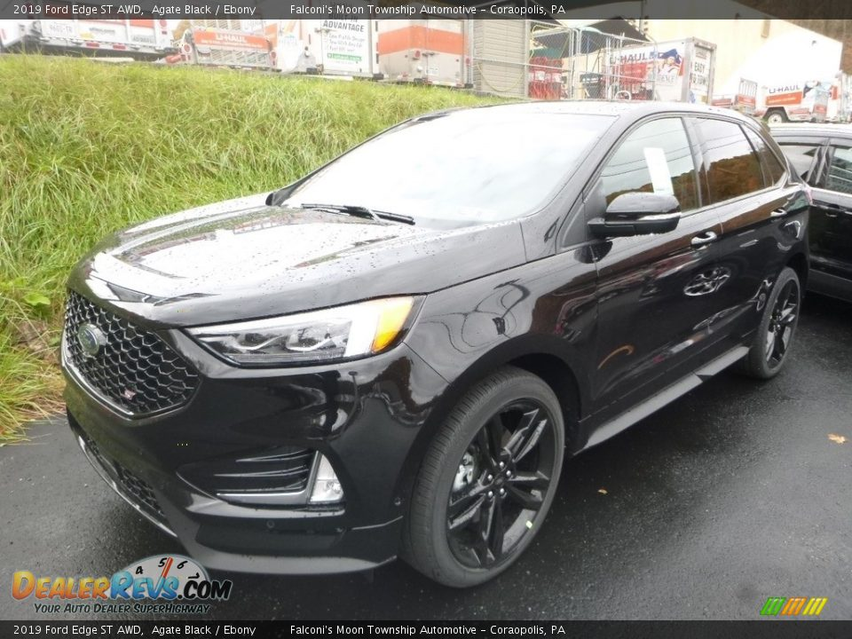 Front 3/4 View of 2019 Ford Edge ST AWD Photo #2