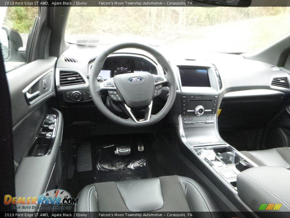 Ebony Interior - 2019 Ford Edge ST AWD Photo #8