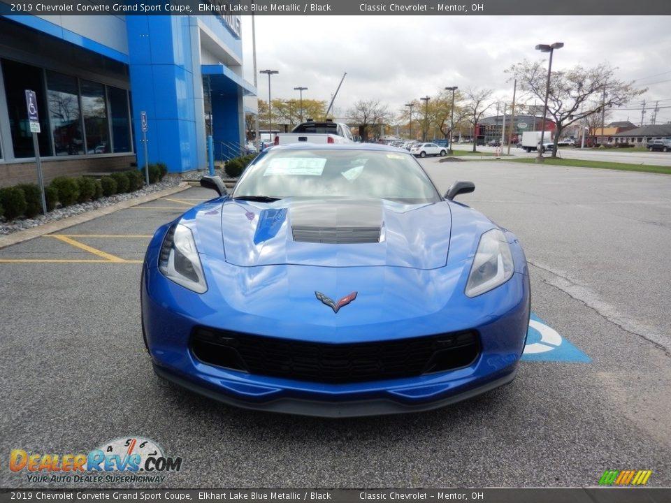2019 Chevrolet Corvette Grand Sport Coupe Elkhart Lake Blue Metallic / Black Photo #2