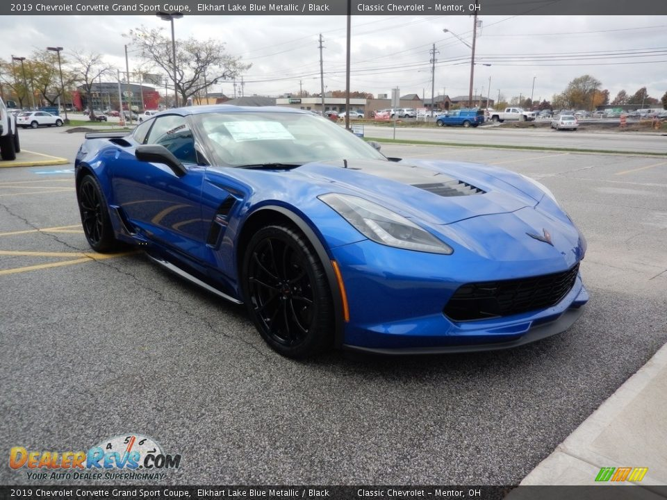 2019 Chevrolet Corvette Grand Sport Coupe Elkhart Lake Blue Metallic / Black Photo #3