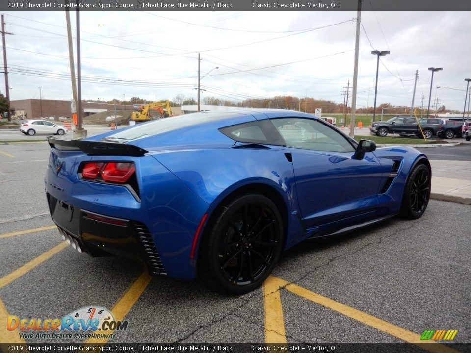 2019 Chevrolet Corvette Grand Sport Coupe Elkhart Lake Blue Metallic / Black Photo #4