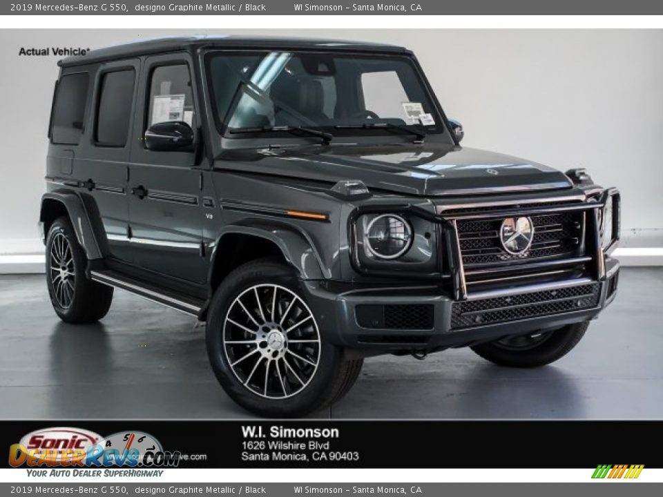 2019 Mercedes-Benz G 550 designo Graphite Metallic / Black Photo #1