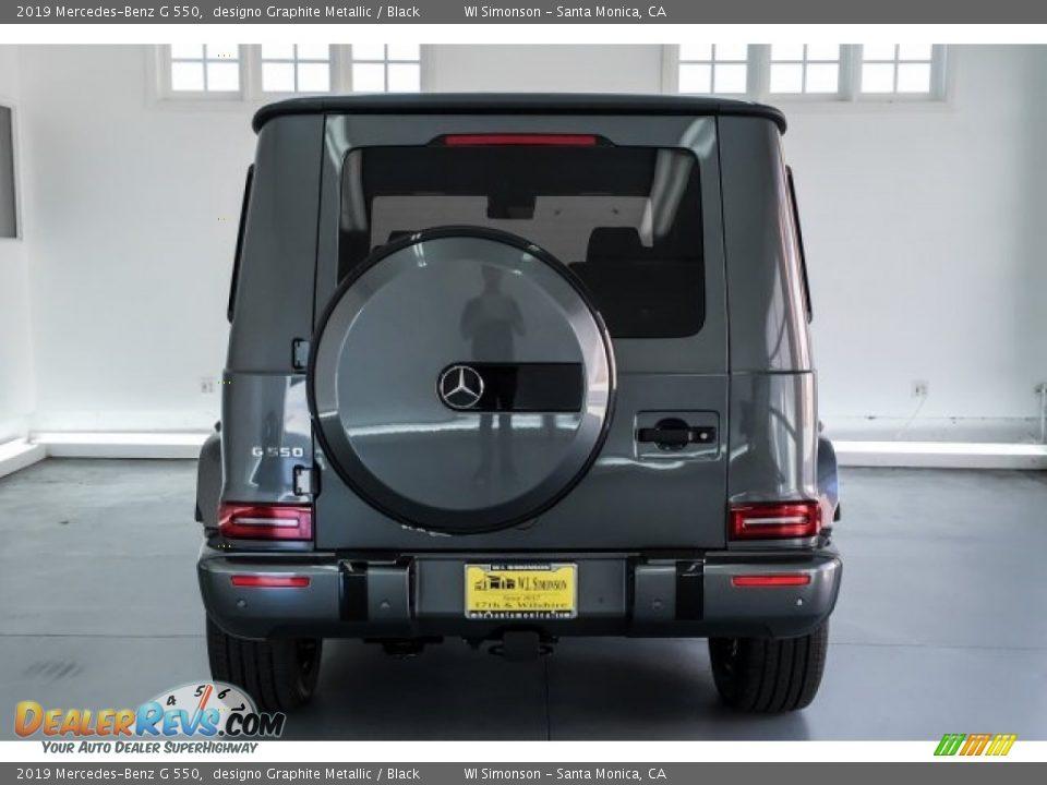 2019 Mercedes-Benz G 550 designo Graphite Metallic / Black Photo #3
