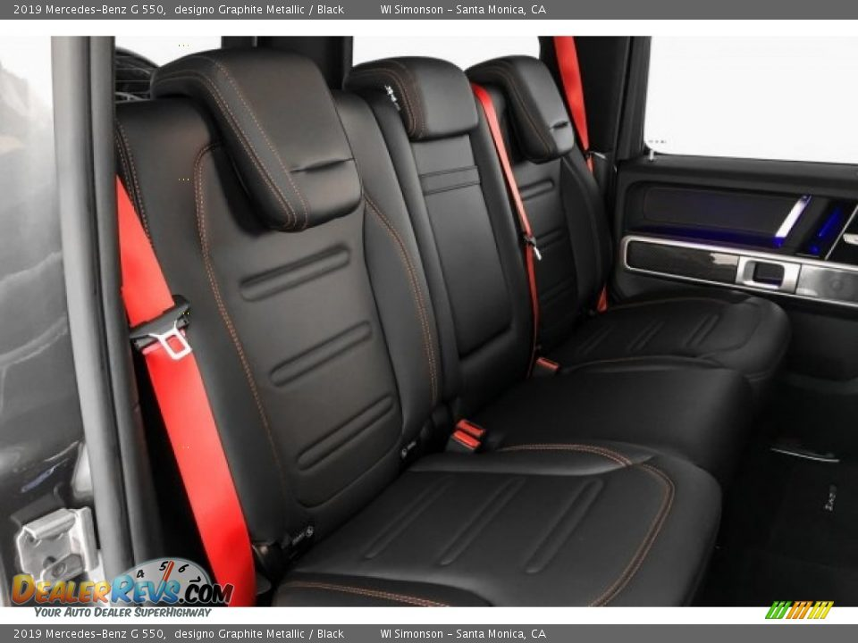 Rear Seat of 2019 Mercedes-Benz G 550 Photo #13