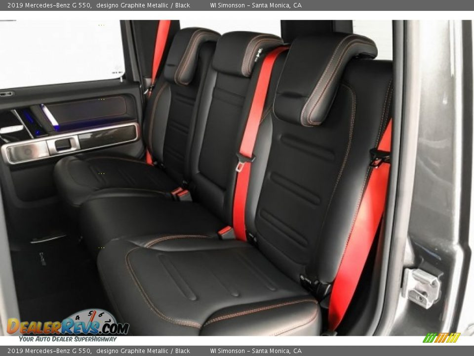 Rear Seat of 2019 Mercedes-Benz G 550 Photo #17