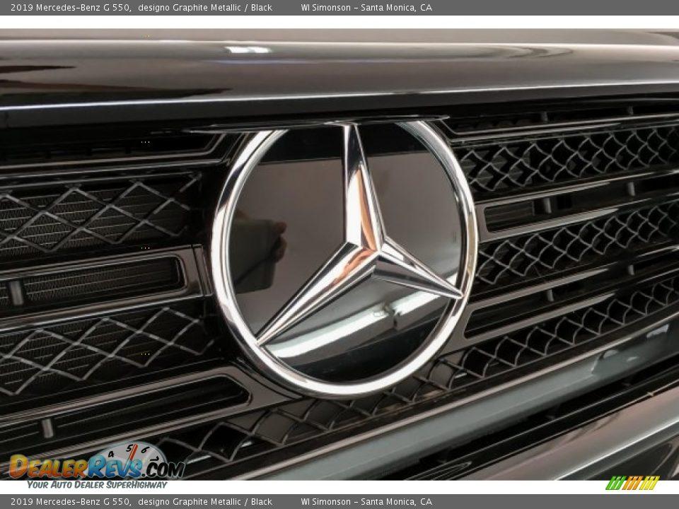 2019 Mercedes-Benz G 550 designo Graphite Metallic / Black Photo #34