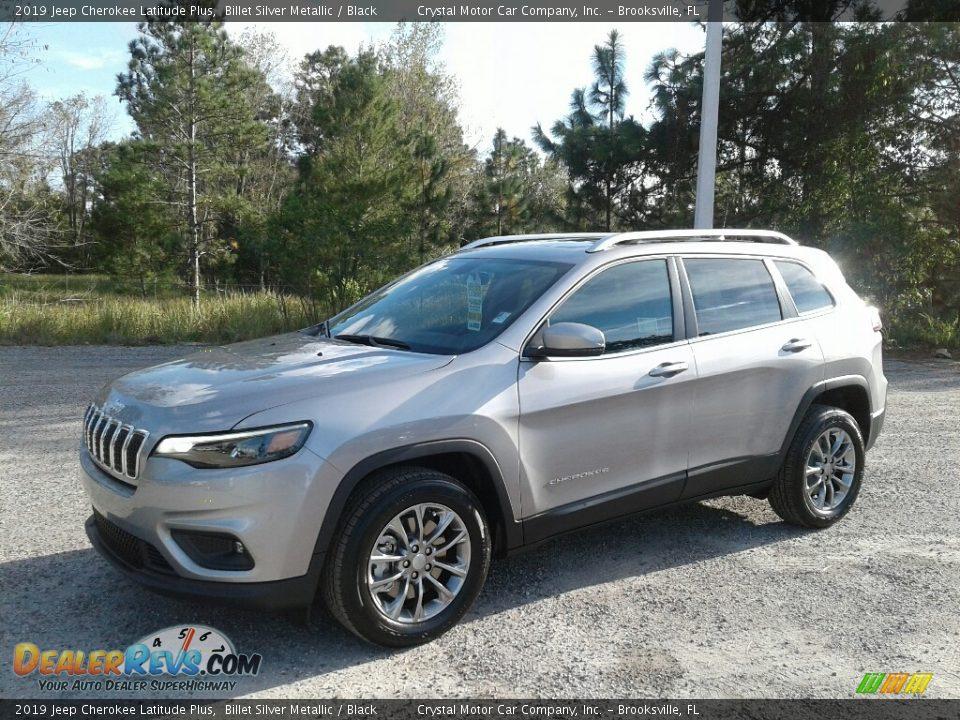 2019 Jeep Cherokee Latitude Plus Billet Silver Metallic / Black Photo #1