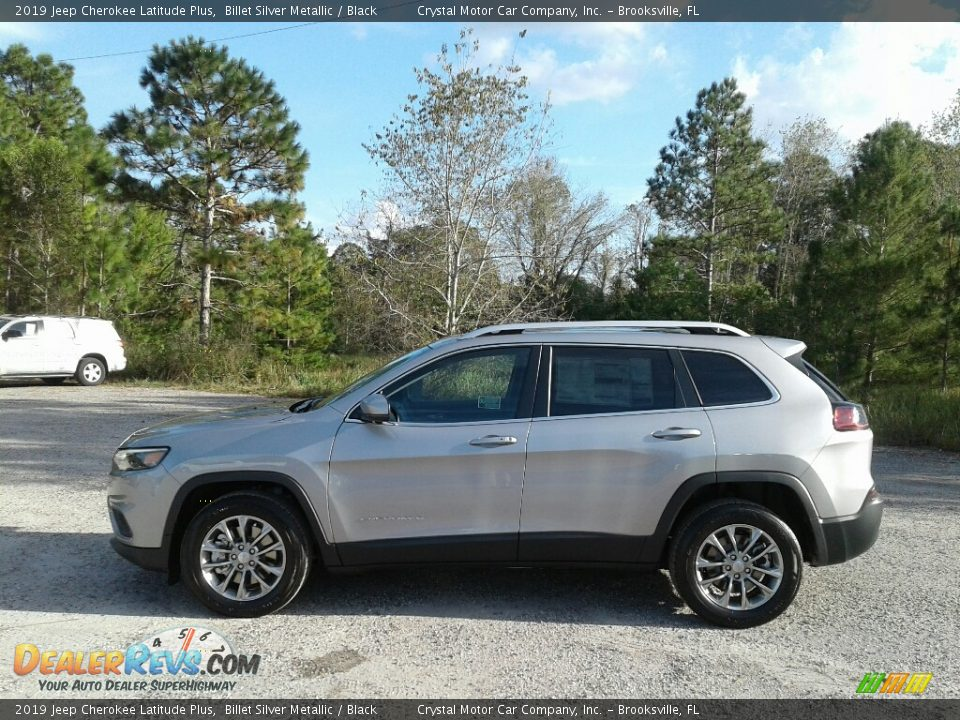 2019 Jeep Cherokee Latitude Plus Billet Silver Metallic / Black Photo #2
