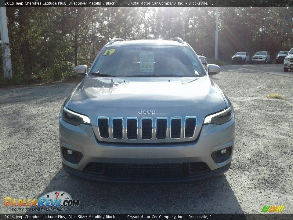 2019 Jeep Cherokee Latitude Plus Billet Silver Metallic / Black Photo #8