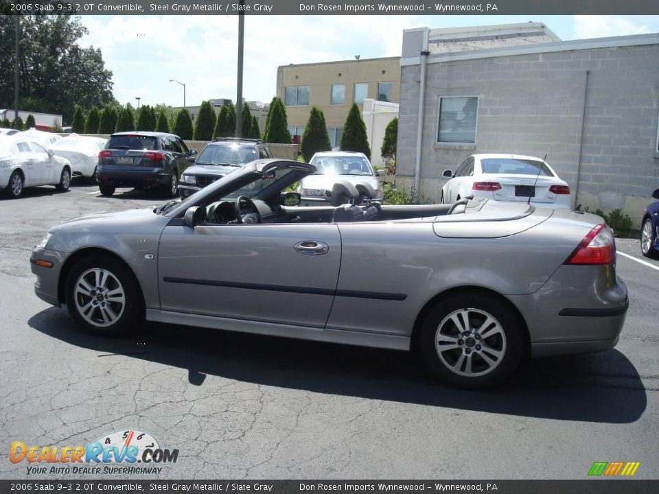 2006 saab 9 3 2 0t convertible steel gray metallic slate. Black Bedroom Furniture Sets. Home Design Ideas