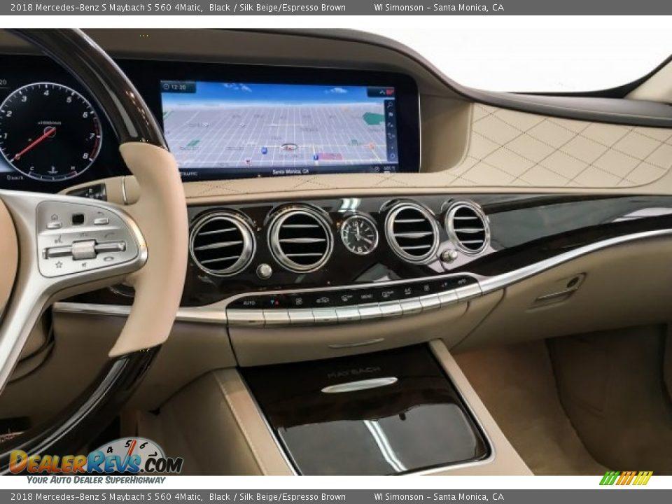 2018 Mercedes-Benz S Maybach S 560 4Matic Black / Silk Beige/Espresso Brown Photo #5