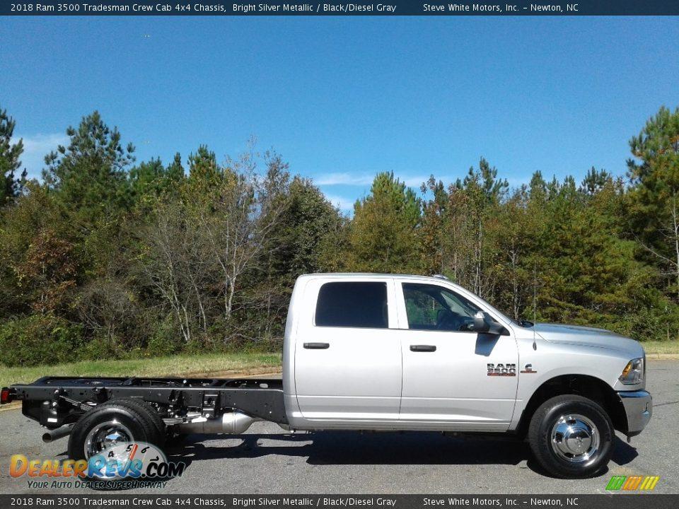 2018 Ram 3500 Tradesman Crew Cab 4x4 Chassis Bright Silver Metallic / Black/Diesel Gray Photo #5