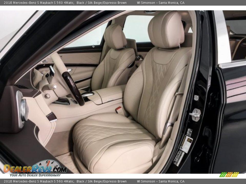 Silk Beige/Espresso Brown Interior - 2018 Mercedes-Benz S Maybach S 560 4Matic Photo #15