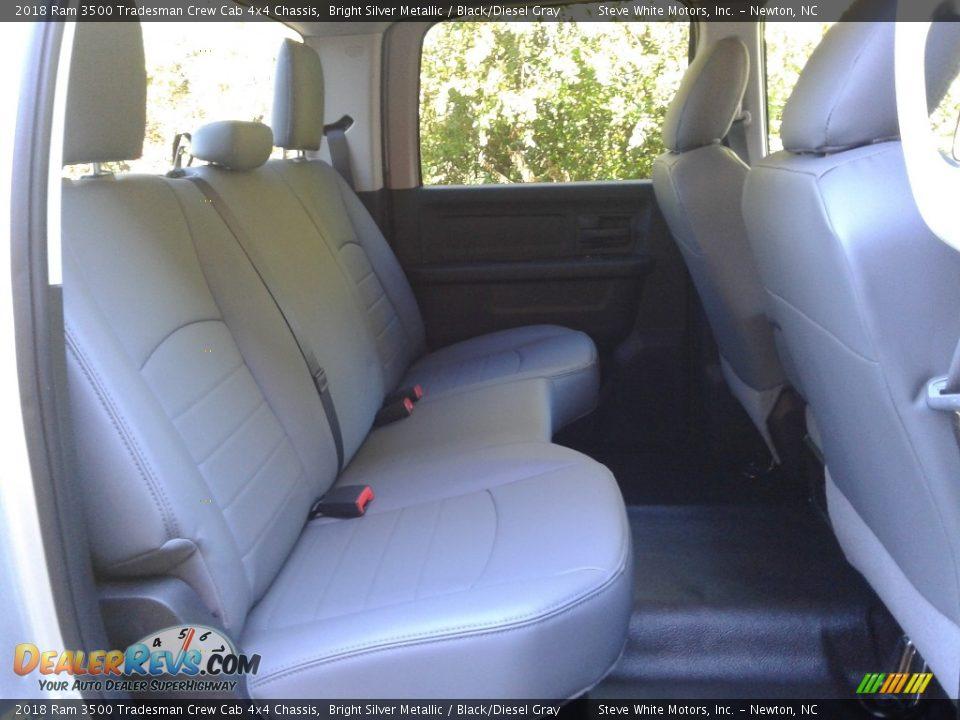 2018 Ram 3500 Tradesman Crew Cab 4x4 Chassis Bright Silver Metallic / Black/Diesel Gray Photo #13