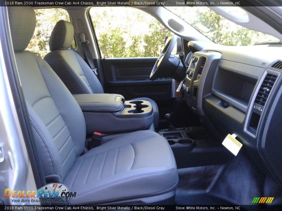 2018 Ram 3500 Tradesman Crew Cab 4x4 Chassis Bright Silver Metallic / Black/Diesel Gray Photo #14
