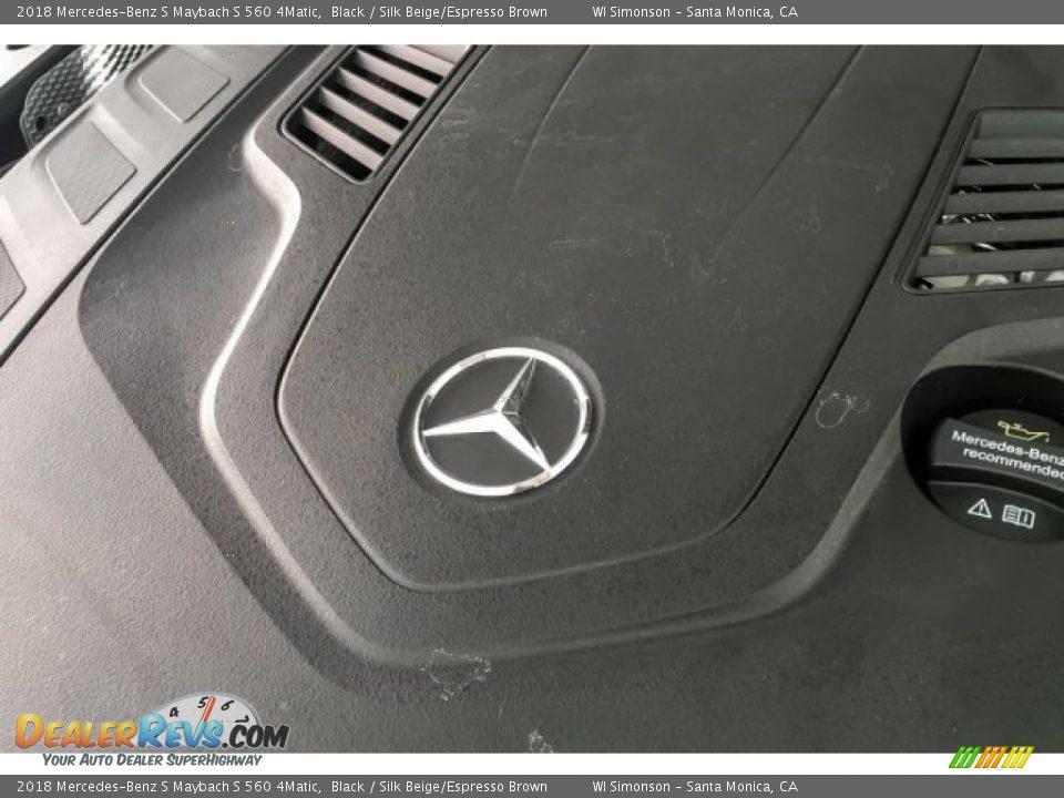 2018 Mercedes-Benz S Maybach S 560 4Matic Black / Silk Beige/Espresso Brown Photo #32