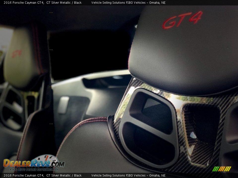 2016 Porsche Cayman GT4 GT Silver Metallic / Black Photo #6
