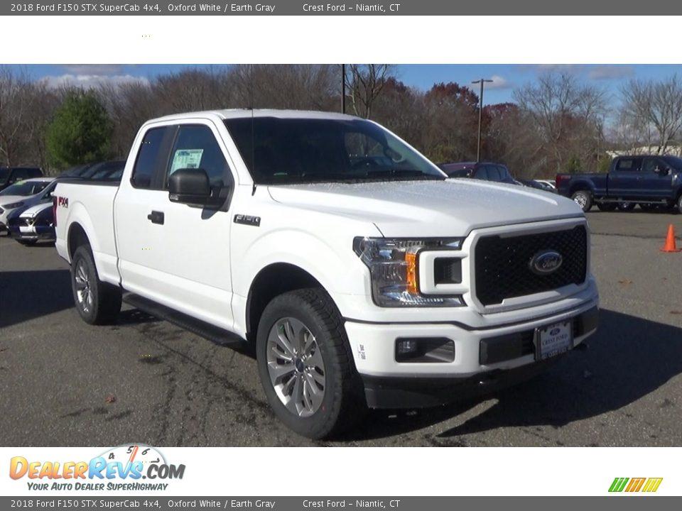 2018 Ford F150 STX SuperCab 4x4 Oxford White / Earth Gray Photo #1