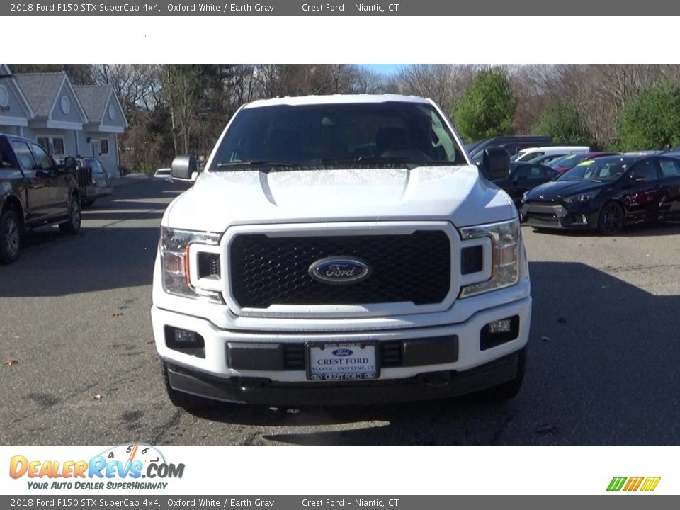 2018 Ford F150 STX SuperCab 4x4 Oxford White / Earth Gray Photo #2