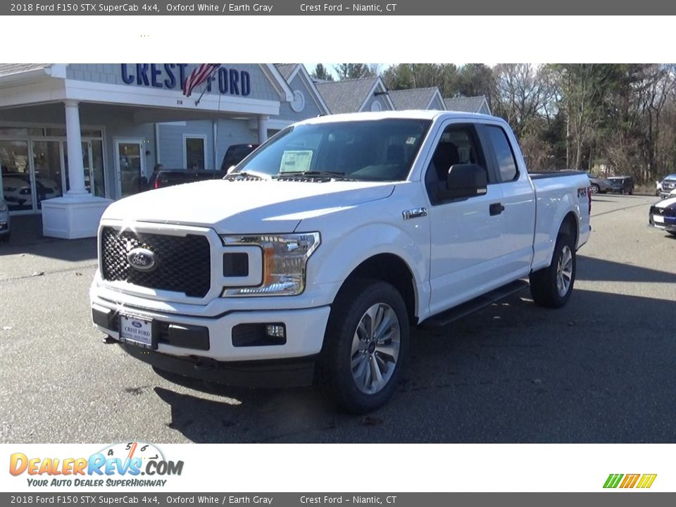 2018 Ford F150 STX SuperCab 4x4 Oxford White / Earth Gray Photo #3