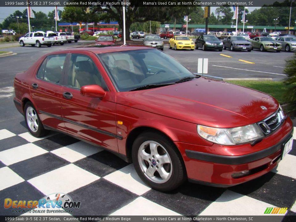 1999 saab 9 5 se 2 3t sedan cayenne red metallic medium. Black Bedroom Furniture Sets. Home Design Ideas