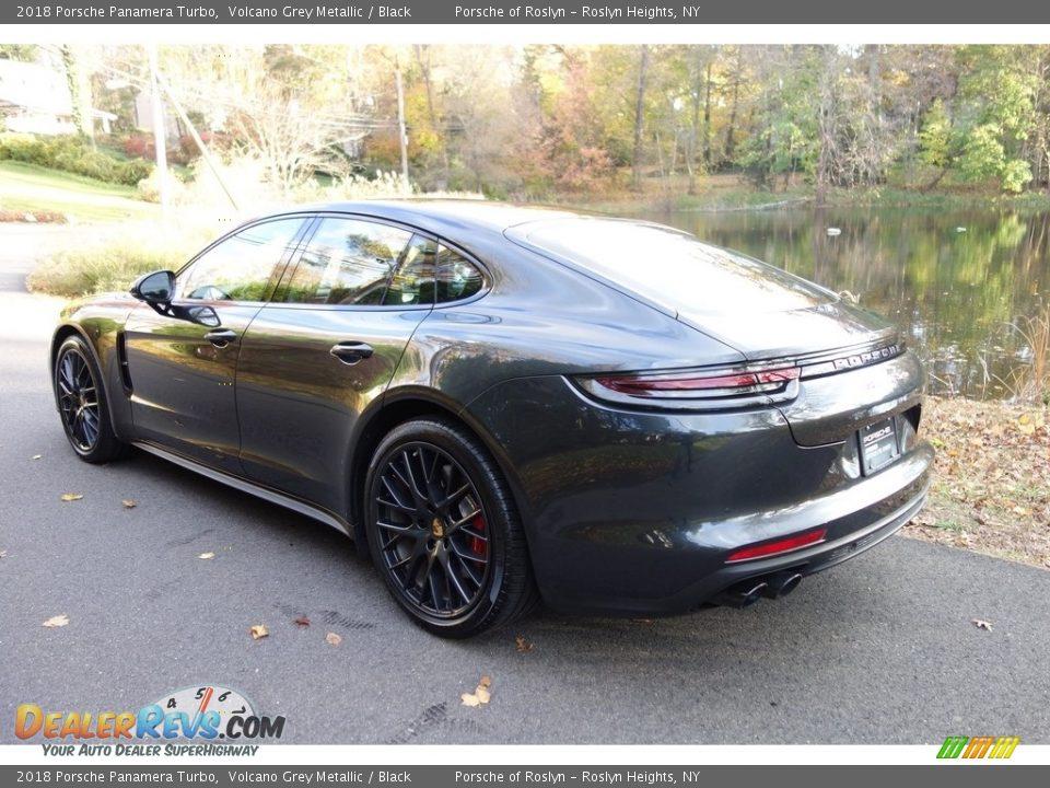 2018 Porsche Panamera Turbo Volcano Grey Metallic / Black Photo #4