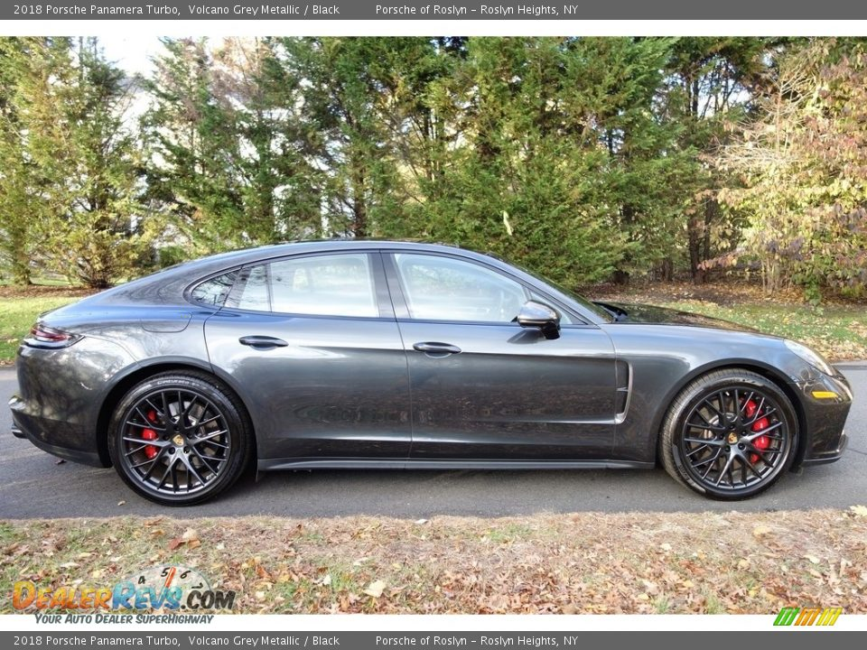 2018 Porsche Panamera Turbo Volcano Grey Metallic / Black Photo #7