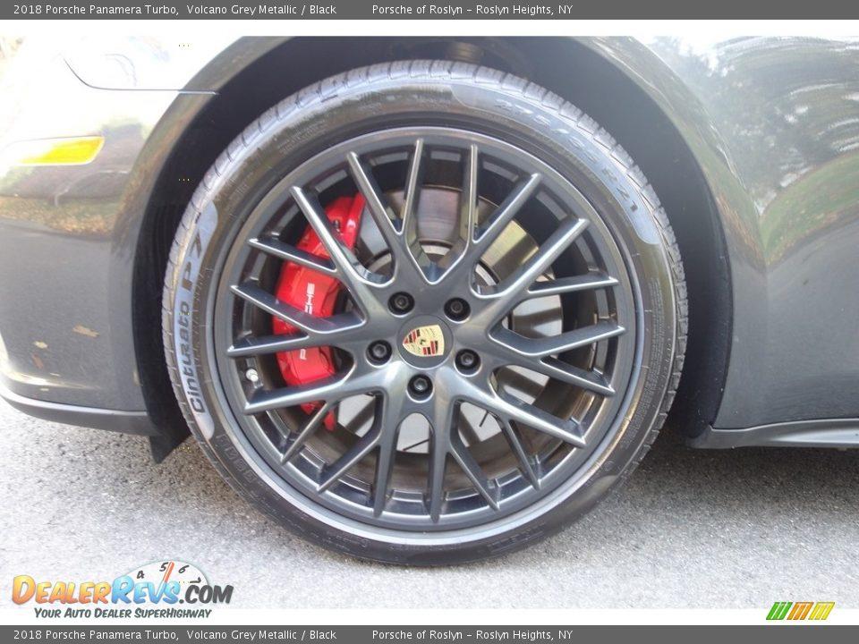 2018 Porsche Panamera Turbo Volcano Grey Metallic / Black Photo #9