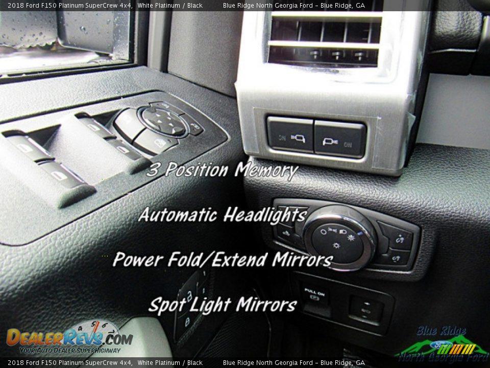 2018 Ford F150 Platinum SuperCrew 4x4 White Platinum / Black Photo #22