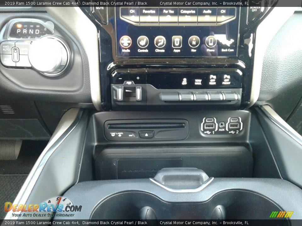2019 Ram 1500 Laramie Crew Cab 4x4 Diamond Black Crystal Pearl / Black Photo #16
