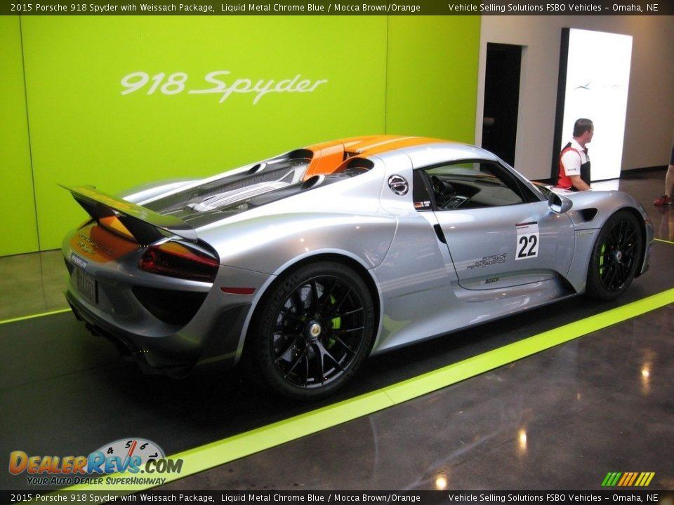 Liquid Metal Chrome Blue 2015 Porsche 918 Spyder with Weissach Package Photo #20
