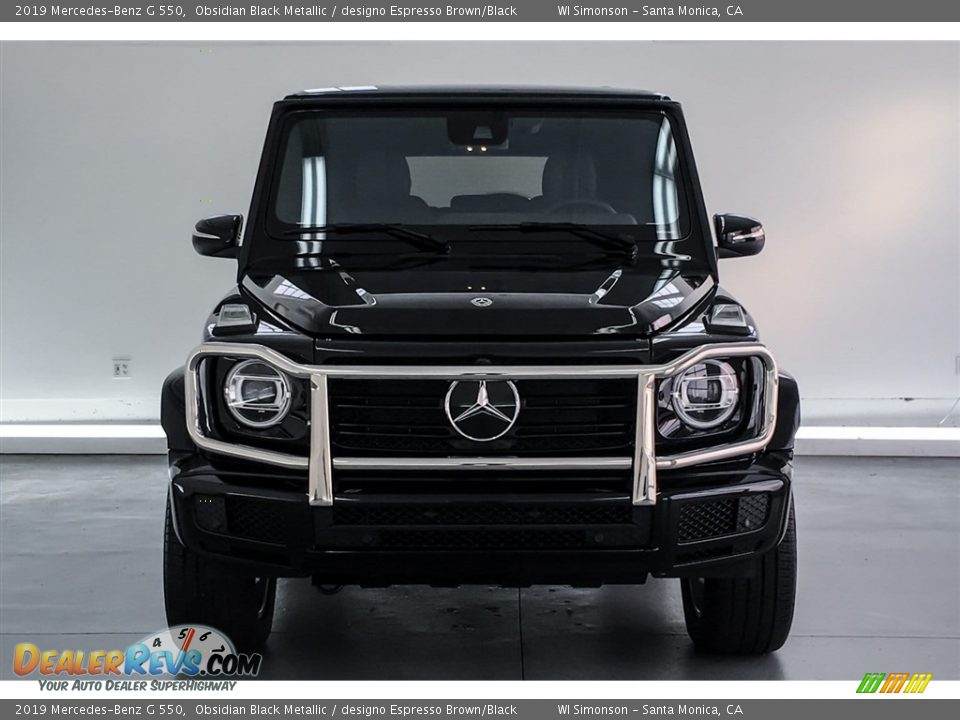 2019 Mercedes-Benz G 550 Obsidian Black Metallic / designo Espresso Brown/Black Photo #2