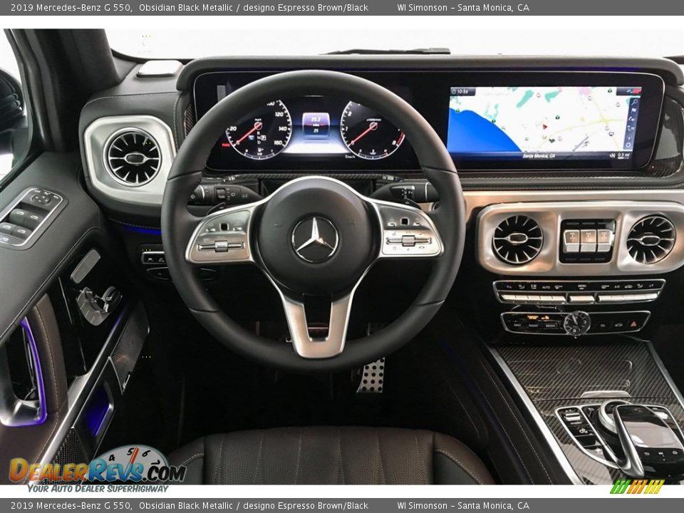 2019 Mercedes-Benz G 550 Obsidian Black Metallic / designo Espresso Brown/Black Photo #4