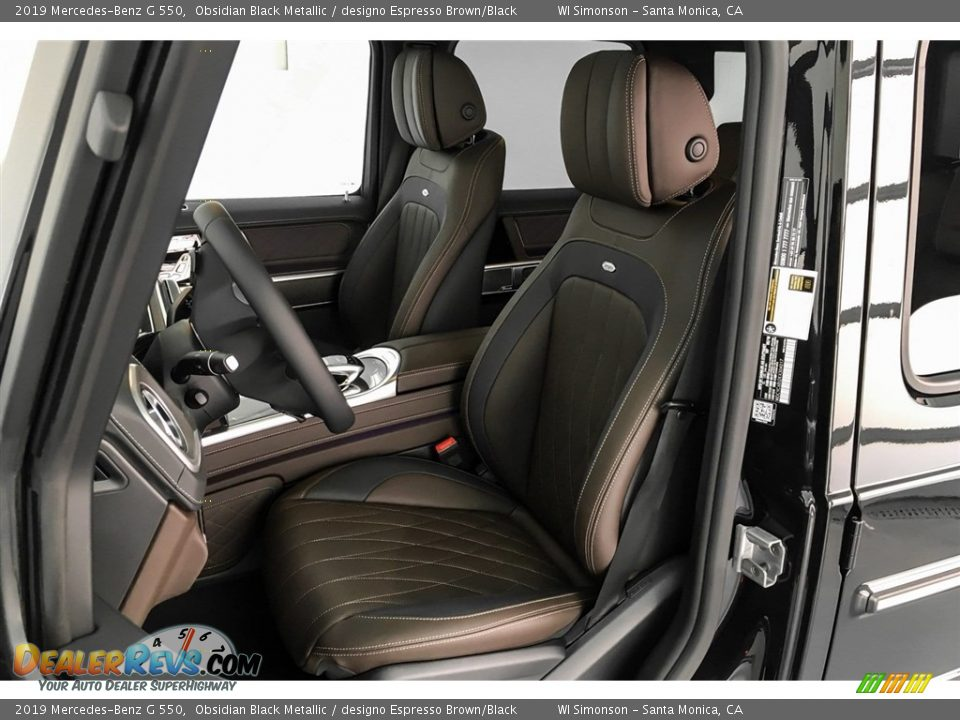 designo Espresso Brown/Black Interior - 2019 Mercedes-Benz G 550 Photo #15