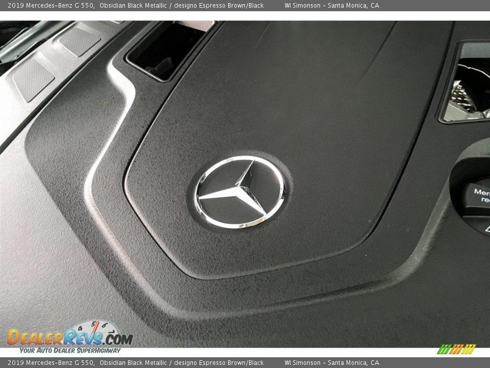 2019 Mercedes-Benz G 550 Obsidian Black Metallic / designo Espresso Brown/Black Photo #32