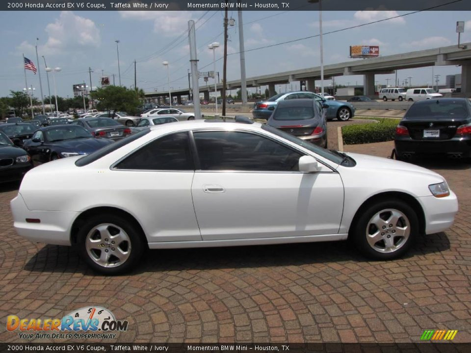 2000 Honda Accord EX V6 Coupe Taffeta White / Ivory Photo ...