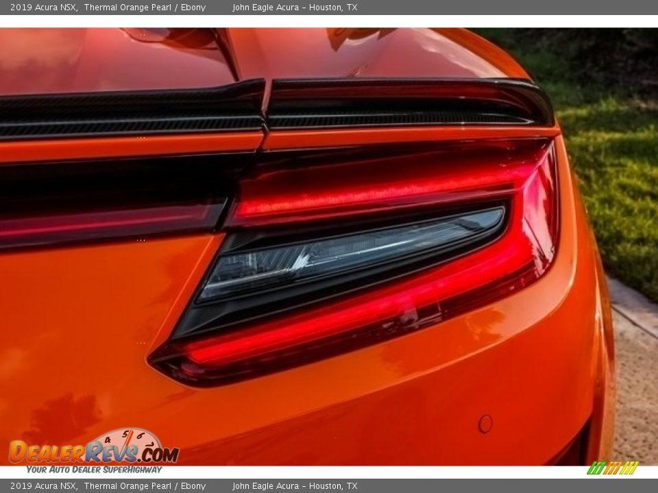 2019 Acura NSX Thermal Orange Pearl / Ebony Photo #10