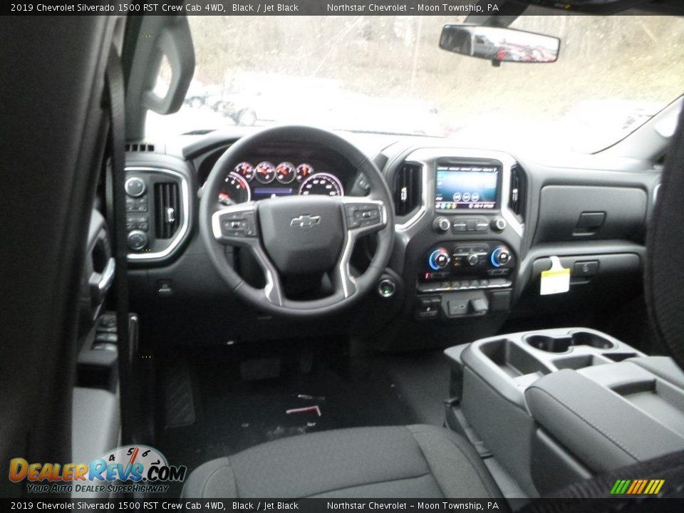 2019 Chevrolet Silverado 1500 RST Crew Cab 4WD Black / Jet Black Photo #13